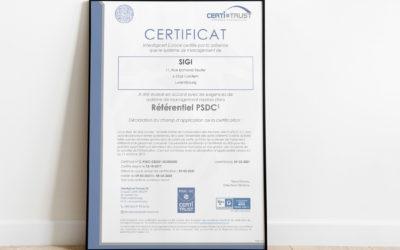 Communiqué de presse : Renouvellement certification PSDC